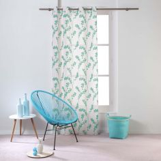 Kineo Floral Eyelet Voile Curtain Panel - Mint