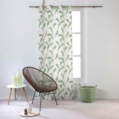 Kineo Floral Eyelet Voile Curtain Panel - Green