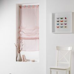 Lignati Striped Straight Blind with Tab Top - Pink