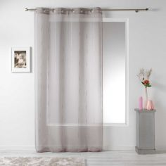 Linahe Chenille Eyelet Voile Curtain Panel - Taupe Natural