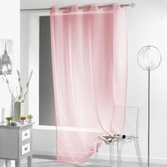Lissea Plain Eyelet Voile Curtain Panel - Pink