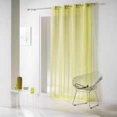 Louanne Chenille Yarn Eyelet Voile Curtain Panel - Green