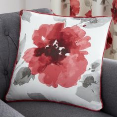 Adriana Floral Cushion Cover - Red