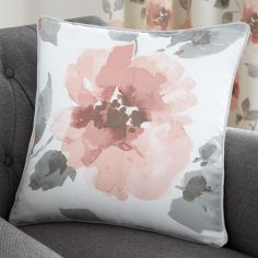 Adriana Floral Cushion Cover - Blush Pink
