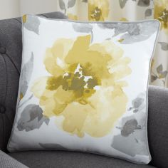 Adriana Floral Cushion Cover - Ochre Yellow