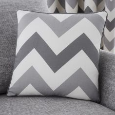 Chevron Print Cushion Cover - Grey