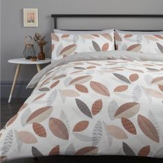 Tazio Leaves Duvet Cover Set - Spice Orange