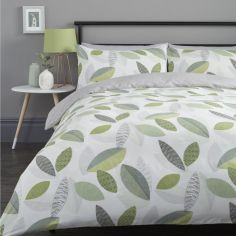 Tazio Leaves Duvet Cover Set - Green