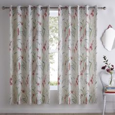 Celine Floral Fully Lined Eyelet Curtains - Multi
