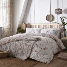 Celine Floral Duvet Cover Set - Natural