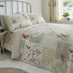 Dionne Floral Patchwork Quilted Bedspread - Multi