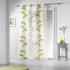 Naturiance Floral Eyelet Voile Curtain Panel - Green