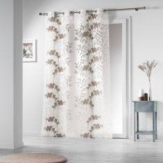 Naturiance Floral Eyelet Voile Curtain Panel - Natural