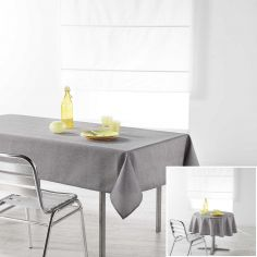 Chambray Newton Plain Linen Look Tablecloth - Grey