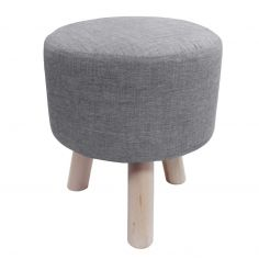 Chambray Newton Plain Footstool Rest - Grey