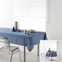 Chambray Newton Plain Linen Look Tablecloth - Blue