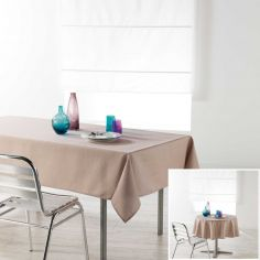 Chambray Newton Plain Linen Look Tablecloth - Beige