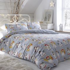Christmas Choir of Angels Reversible Duvet Cover Set -  Multi