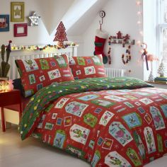 Curious Christmas Reversible Duvet Cover Set -  Multi