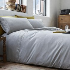 Austin Cotton Rich Duvet Cover Set - Silver Grey