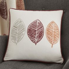Skandi Leaf Cushion Cover - Red