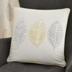 Skandi Leaf Cushion Cover - Ochre Yellow
