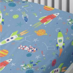 Supersonic Glow in the Dark Fitted Sheet - Blue