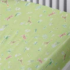 Jungle Safari Bed Fitted Sheet - Green Multi