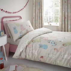 Cheeky Cats Kids Duvet Cover Set - Multi