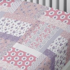Mermaid Patchwork Kids Fitted Sheet - Pink