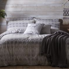 Chandara Ethnic Duvet Cover Set - Slate Grey