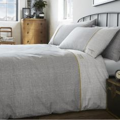 Pane Check Duvet Cover Set - Grey