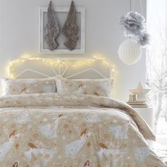 Moonlight Angels Duvet Cover Set - Gold