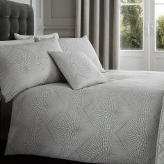 Portobello Geometric Weave Cushion Cover - Silver Grey