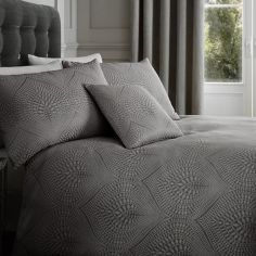 Portobello Geometric Weave Cushion Cover - Slate Grey