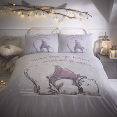 Lazy Bear Duvet Cover Set - Grey