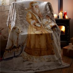 Twilight Santa Supersoft Blanket Fleece Throw