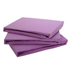Jersey 100% Cotton Fitted Sheet Lilac