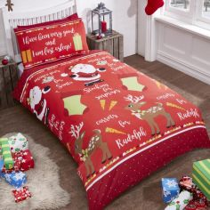 Christmas Night Duvet Cover Set - Red Multi
