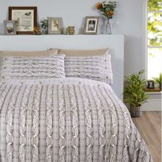 Arran Thermal Flannelette Duvet Cover Set - Natural