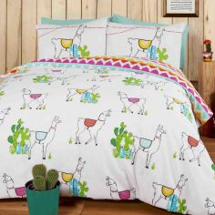 Happy Llamas Duvet Cover Set - Multi