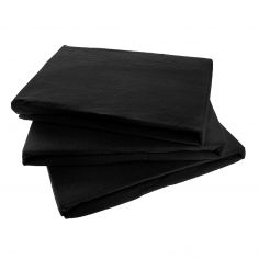 Jersey 100% Cotton Fitted Sheet Black