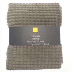 Topaz Soft Blanket Throw - Grey
