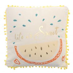 Life Is Sweet Watermelon Filled Cushion - Multi