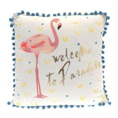 Welcome To Paradise Filled Cushion - Multi