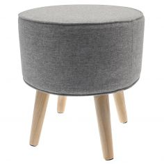 Oslo Danish Stool with Wood Legs - Stone