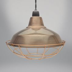 Sona Light Fitting - Antique Brown & Copper