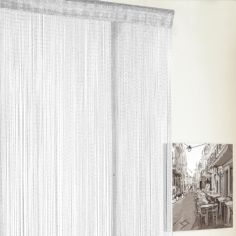 Glitter String Door Curtain - White