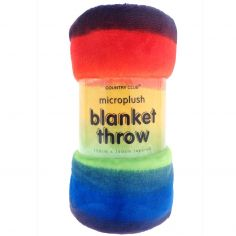 Rainbow Microplush Blanket Throw - Multi