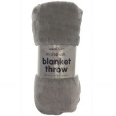 Pompom Soft Blanket Throw - Grey